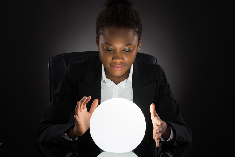 looking into a crystal ball to see the future of work